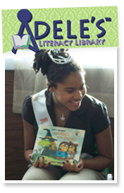 Jasmine inspired her next-door-neighbor Adele, who started her own non-profit organization, Adele's Literacy Library.