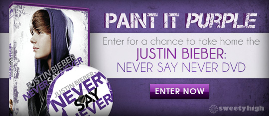 Win a dvd copy of justin biebers movie never say never m4hsunfo